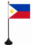 Philippines Desk / Table Flag with plastic stand and base.